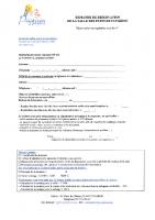 Demande de réservation SDF